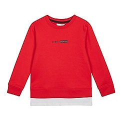 bluezoo - Boys' Red Mock Sweatshirt