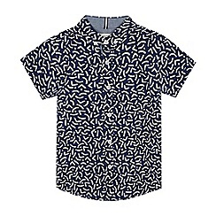 J by Jasper Conran - Boys' Blue Abstract Short Sleeve Shirt