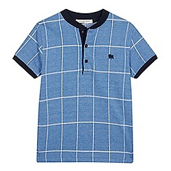 J by Jasper Conran - Boys' Pale Blue Grid Check Top