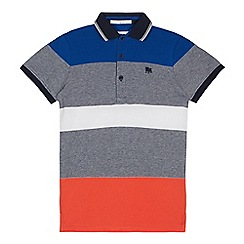 J by Jasper Conran - Boys' Multicoloured Block Stripe Cotton Polo Shirt