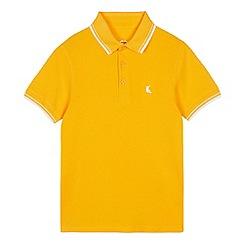 bluezoo - Boys' Light Orange Tipped Cotton Polo Shirt
