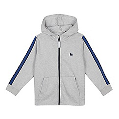 J by Jasper Conran - Boys' Grey Striped Sleeve Hoodie