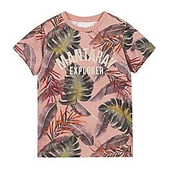 Mantaray - Boys' Pink Tropical T-Shirt