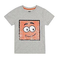 bluezoo - Boys' Grey Sequin Face T-Shirt