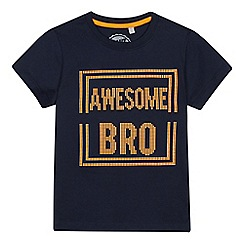 bluezoo - Boys' Navy 3D 'Awesome Bro' Slogan T-Shirt