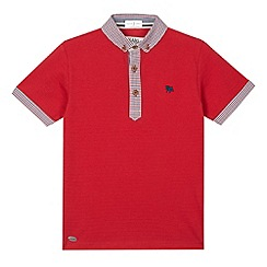 J by Jasper Conran - Designer boy's red gingham collar polo shirt