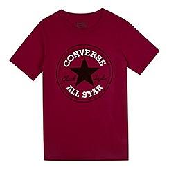 Converse - Boy's burgundy Chuck Taylor t-shirt