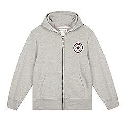 Converse - Boy's grey zip hoodie