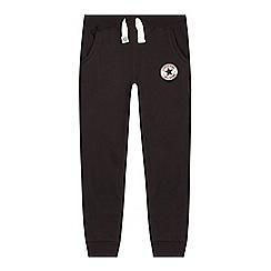 Converse - Boy's black slim jogging bottoms