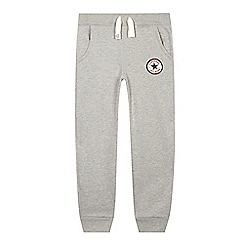 Converse - Boy's grey slim jogging bottoms