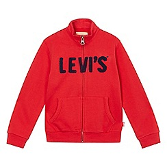 Levi's - Boys' red logo applique jersey jacket