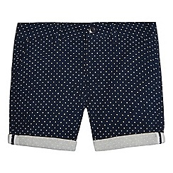 Ben Sherman - Boys' navy dotted twill shorts