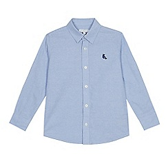 bluezoo - Boys' light blue long sleeve cotton Oxford shirt