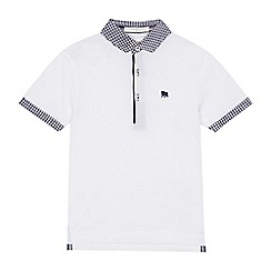 J by Jasper Conran - 'Boys' white gingham trim polo shirt
