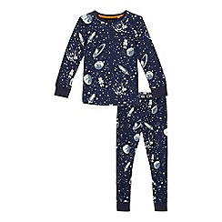 bluezoo - Boys' navy space print pyjama set