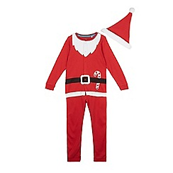 bluezoo - Boys' red Santa all in one and hat set