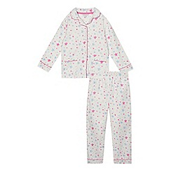 bluezoo - Girls' white star print pyjama set