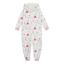 bluezoo - Girls' white star print onesie