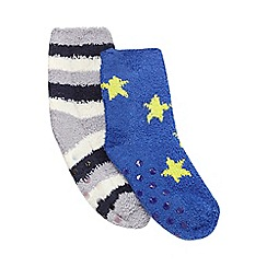 bluezoo - Pack of two assorted print slipper socks