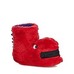 bluezoo - Boys' red faux fur slippers