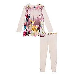 Baker by Ted Baker - Girls' pink woodland theme pyjama set