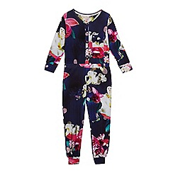 Baker by Ted Baker - Girls' navy floral print onesie
