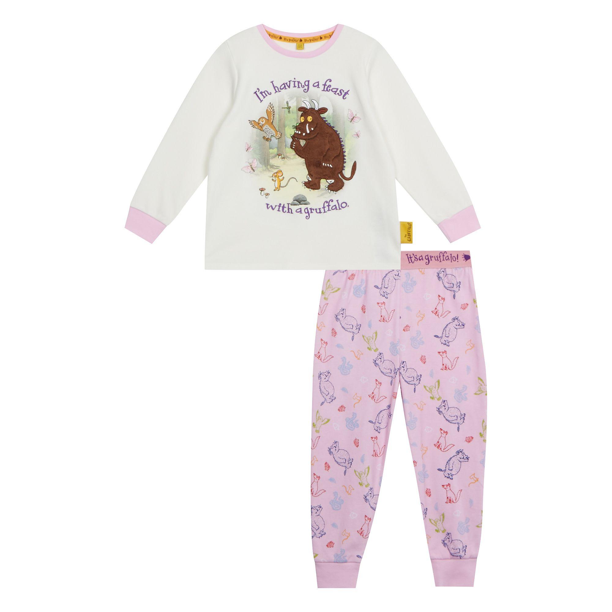 Details about The Gruffalo Kids Girls  Pink  Gruffalo  Print Pyjama Set f0383cb9c