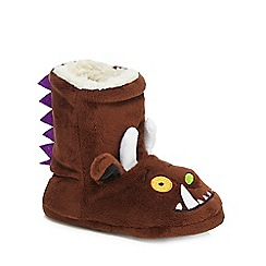 The Gruffalo - Children's brown 'Gruffalo' slipper boots