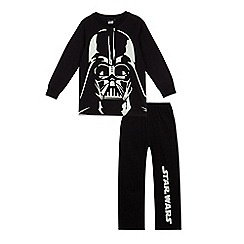 Star Wars - Boys' black 'Star Wars' glow in the dark pyjama set