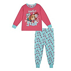 Paw Patrol - Girls' pink and blue 'Paw Patrol' print pyjama set