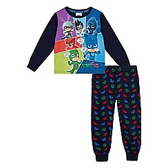 PJ Masks - Boys' navy 'PJ Masks' print pyjama set