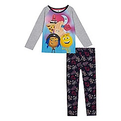 Emojinal - Girls' multi-coloured 'Emoji Movie' print pyjama set