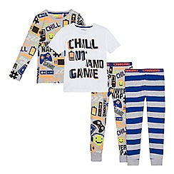 bluezoo - Pack of two boys' multi-coloured pyjama sets