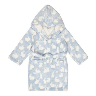 bluezoo Girls\' blue bunny dressing gown | Debenhams