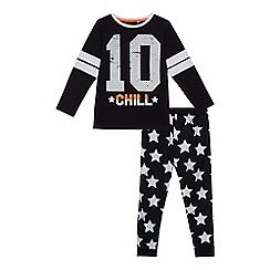 bluezoo - Boys' black star print pyjama set