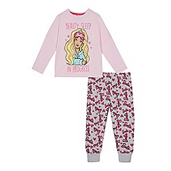 Barbie - Girls' pink 'Barbie' print pyjama set