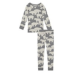 Mantaray - Unisex' grey polar bear print pyjama set