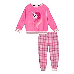 bluezoo - Girls' Pink Unicorn Pyjama Set