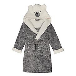 Mantaray - Girls' grey bear dressing gown