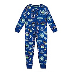 bluezoo - Boys' blue space print onesie
