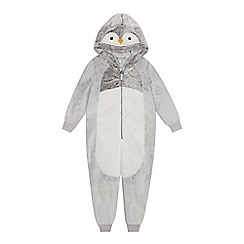 bluezoo - Kids' grey penguin onesie