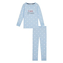 bluezoo - Boys' blue star 'little prince' print pyjama set