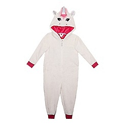 bluezoo - Girls' white unicorn onesie