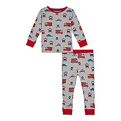 bluezoo - Boys' grey transport print pyjama set