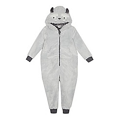 Mantaray - Kids Grey Yeti Onesie