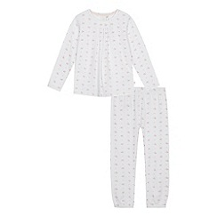 J by Jasper Conran - Girls' white floral print pyjama set