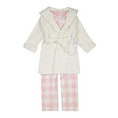 J by Jasper Conran - Girls' Pink Pyjama And Cream Dressing Gown Set