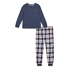 J by Jasper Conran - Boys' navy check print pyjamas