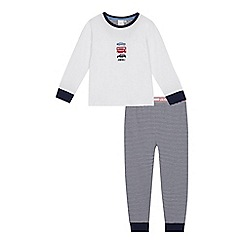 J by Jasper Conran - Boys' white transport applique pyjama set