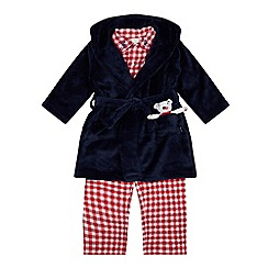 J by Jasper Conran - Boys' Red Pyjama And Navy Dressing Gown Set
